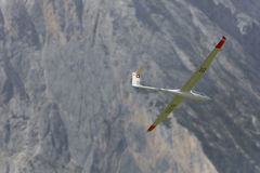 Radio controlled model airplane in flight Stock Images