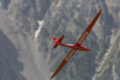 Radio controlled model airplane in flight Stock Photography