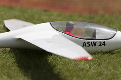 Radio controlled model airplane in flight Stock Image