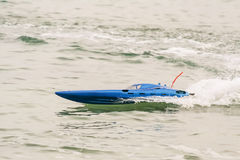 Radio controlled model boat Stock Photography