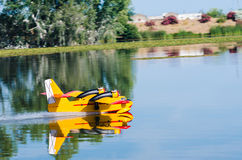 Radio controlled model hydroplane Royalty Free Stock Images