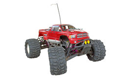 Radio controlled monster truck. Front side details Royalty Free Stock Photography