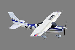 Radio controlled plane. Isolated on background Royalty Free Stock Photography