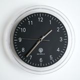 Radio controlled wall clock royalty free stock photography