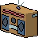 Radio d'art de pixel de vecteur illustration libre de droits