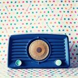 Radio de bleu de vintage Images stock