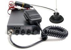 Radio de CB avec le microphone Photographie stock libre de droits