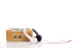 Radio de la música y auricular blanco Fotografía de archivo libre de regalías