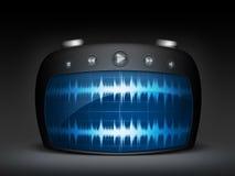 Radio de la onda ilustración del vector