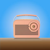 Radio de la vendimia stock de ilustración