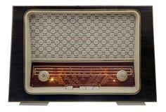 Radio de la vendimia encendido Fotografía de archivo libre de regalías