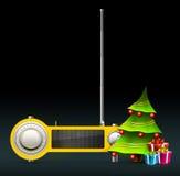 Radio de Navidad ilustración del vector