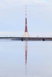 Radio de Riga et tour de TV Photo stock
