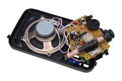 Radio de transistores quebrados vieja fotos de archivo libres de regalías