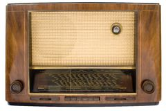 Radio de tube de cru avec le chemin Photo stock