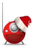 Radio del Año Nuevo y de la Navidad ilustración del vector