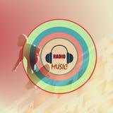 Radio del logotipo de la música Imagen de archivo