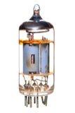 Radio del tubo de vacío 1950-60's y componente de la televisión Fotografía de archivo