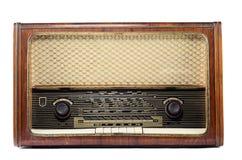 Radio del vintage aislada en un fondo blanco Fotos de archivo libres de regalías