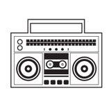 Radio dell'artificiere del ghetto illustrazione vettoriale