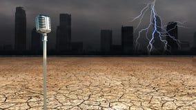 Radio di Dystopic Fotografie Stock Libere da Diritti