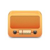Radio di legno d'annata Immagini Stock Libere da Diritti