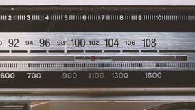 Radio di sintonia stock footage