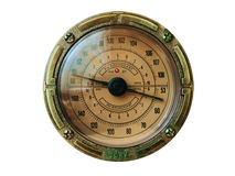 Radio dial. Old fashioned radio dial in metallic frame Royalty Free Stock Photography