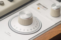 Radio dial. The dial on a vintage FM tuner royalty free stock photography