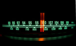 Radio dial with lights Stock Photo