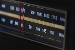 Radio Dial Lit Royalty Free Stock Photo