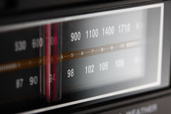 Radio Dial Macro. Lit radio dial up close Royalty Free Stock Image