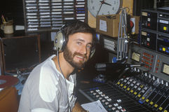 Radio disc jockey for station KFI in his studio, Los Angeles, CA Stock Photos