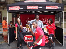 Radio Disney à une rue de NYC juste Photographie stock libre de droits