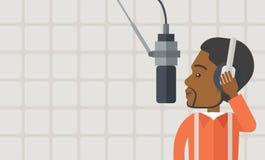 Radio DJ illustration stock