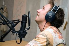 Radio DJ Royalty Free Stock Photography