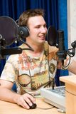 Radio DJ. Royalty Free Stock Photo