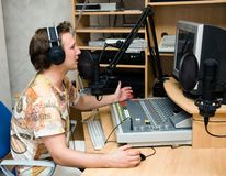 Radio DJ Royalty-vrije Stock Foto