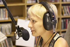 Radio dj and announcer Royalty Free Stock Photo