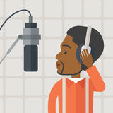 Radio DJ vector illustration