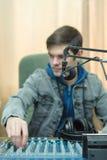 Radio DJ del ritratto dell'uomo Immagine Stock