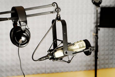 Radio DJ equipment Stock Images