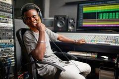 Radio dj Royalty Free Stock Photo