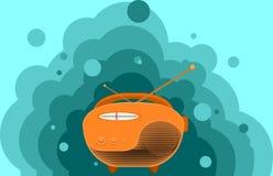 Radio dla Światowego Radiowego dnia również zwrócić corel ilustracji wektora Fotografia Royalty Free