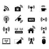 Radio e icono de Wifi stock de ilustración