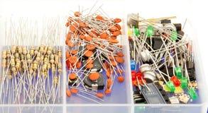 Radio electronic toolbox Stock Photo