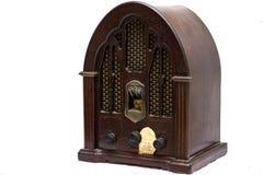 Radio en bois de vintage Photographie stock