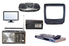 Radio en TV Royalty-vrije Stock Afbeeldingen
