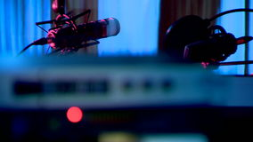 Radio is ether of news. Studio of direct ether  music stock footage