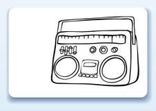 radio för affärskort royaltyfri illustrationer